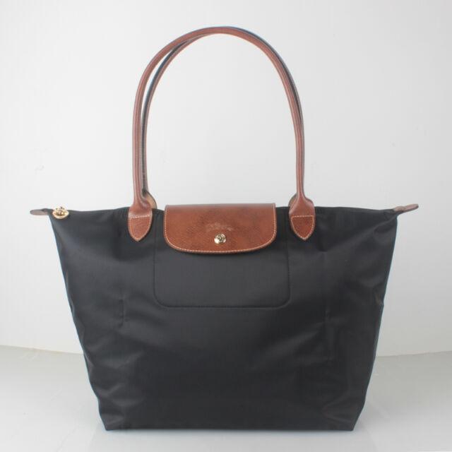 3a00ad6529b9 100% Authentic Longchamp Le Pliage Large Tote Bag 1899089001 Black