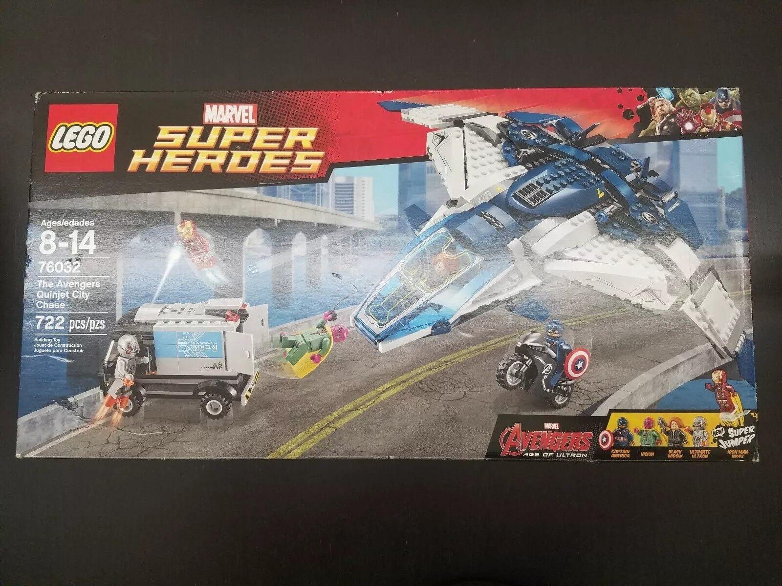 LEGO 76032 Marvel Super Heroes The Avengers Quinjet  città Chase RARE nuovo Retirosso  autentico