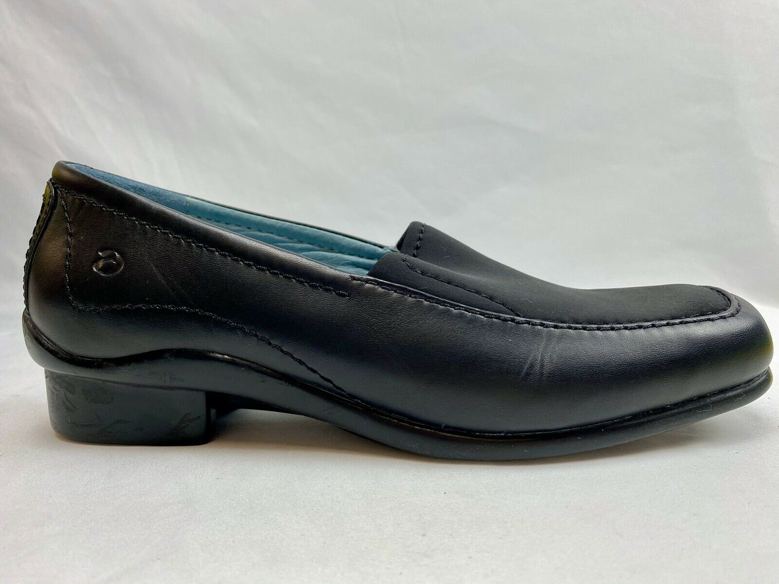 ARAVON Black Leather Stretch Loafer Comfort Shoes Women's 7B