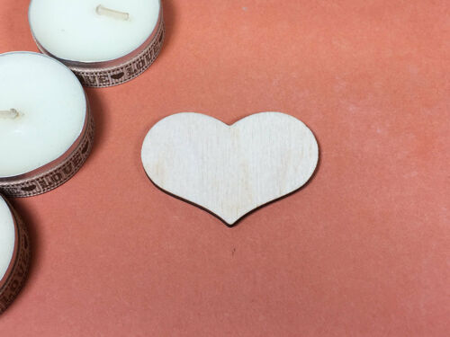 WOODEN COUNTRY HEARTS Shapes 5cm laser cut wood crafts blank shape x10
