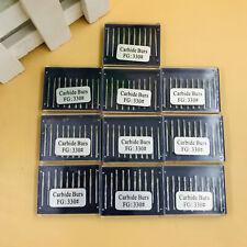 100pcs Dental Carbide Burs Fg330 Pear Shaped High Speed Tungsten Steel