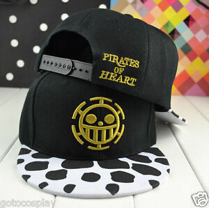 4f9b8042e90 Men Pirates of heart cartoon ONE PIECE hip-pop snapback hat ...
