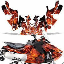 Sled Wrap for Polaris AXYS RUSH Pro S Graphic Snow Decal Kit Snowmobile ICE ORNG