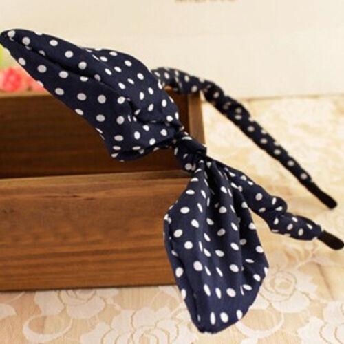 Fashion Women Cute Bow Hairband Hair Band  Knotted Rabbit Headband Hair Clip