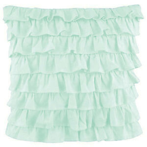 2 Piece Multi Ruffle Pillow Shams 1000 TC Egyptian Cotton Solid All Size & Color