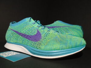 88d4dd04d9629 NIKE FLYKNIT RACER ONE HULK SKUNK 420 SAMPLE TURQUOISE GREEN GRAPE ...