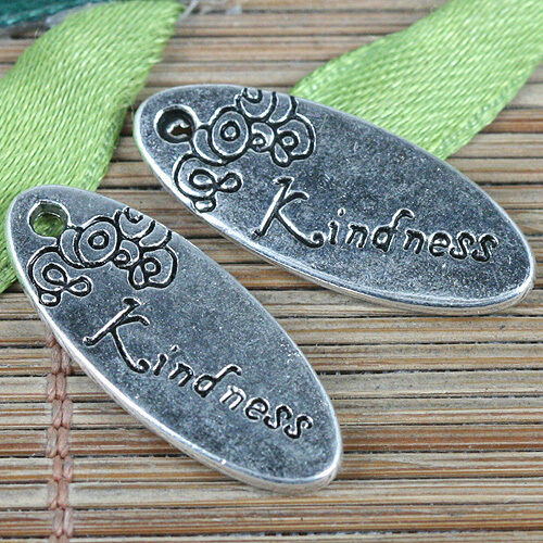 8pcs Tibetan Silver Color Fleur Ovale gentillesse Charms EF0353