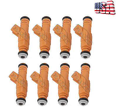 8 GENUINE OEM BOSCH FUEL INJECTORS 0280155710 1994-1998 FORD LINCOLN MERC V8