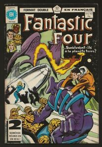 FANTASTIC-FOUR-111-112-Double-Format-in-French-Heritage-Francais-Marvel-1980