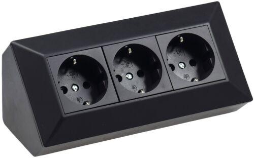 Delphi 2-3 fach Steckdosenblock weiß,silber,Schwarz 250V 16A Aufbaumontage USB