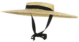 Women-Ladies-Vintage-Wide-Brim-Boater-Straw-Hat-Elegant-Flat-Floppy-Derby-Hat