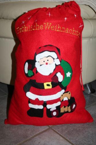 Nikolaussack Weihnachtssack Filz Sack Dekoration Weihnachten mit Motiv Nikolaus
