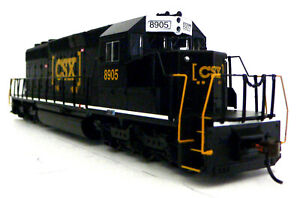 HO-Scale-Model-Railroad-Trains-Engine-CSX-SD-40-2-Locomotive-DCC-Equipped-60917