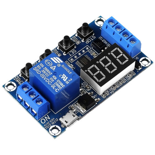 1-Way Relay Module Power-off Trigger Delay Cycle Timer Switch DC 6-30V