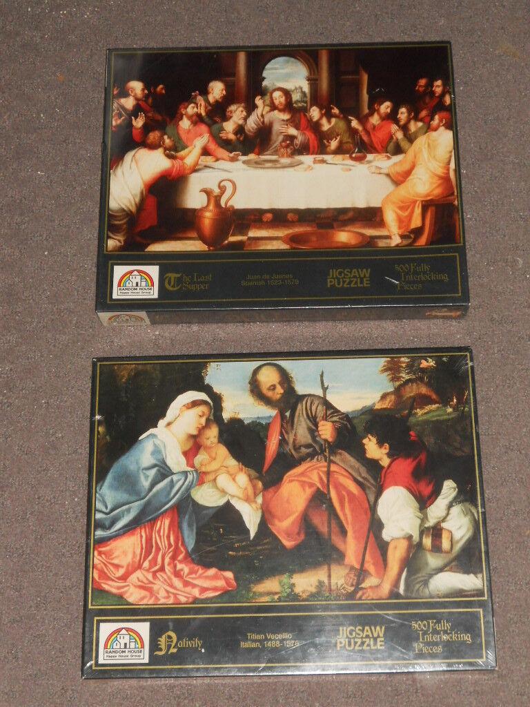 Random House puzzles   Nativité & La Cène  -500 Pièces-Neuf  le plus en vogue