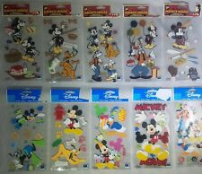 NEW 4 pc MICKEY POSTCARD Mickey Mouse Vacation Travel  Stickers DISNEY JOLEE/'S
