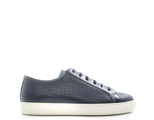 20129 Antica Sneakers Naturel Chaussures Cuir Trendy bls Uomo Bleu Cuoieria 8xtgd