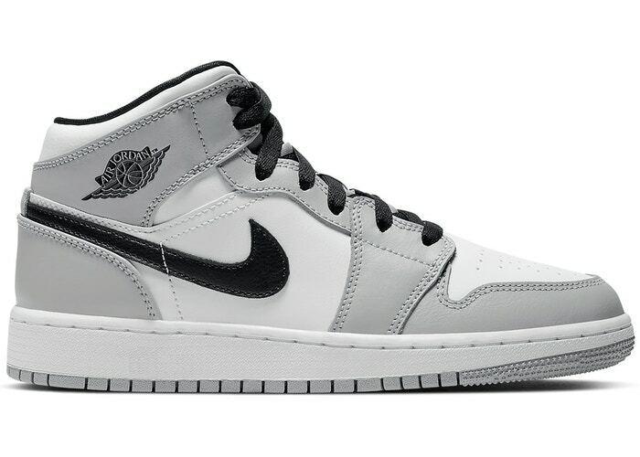 Nike Air Jordan 1 Mid Light Smoke Grey (GS) 554724 092
