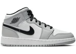 Nike Air Jordan 1 Mid Light Smoke Grey (GS) - 554724-092 | eBay