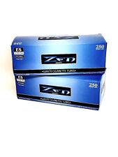 2 Zen Blue Light King Cigarette Tubes Box 250 ct. ea White Filter Tubes NEW USA