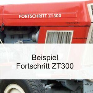 2-Folien-Aufkleber-Schlepper-Fortschritt-ZT-300-in-weiss-hochglanz