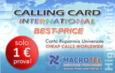 "Carta Telefonica Internazionale ""CALLING CARD INTERNATIONAL"", 1 € Traffico"