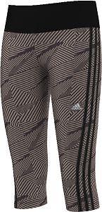 adidas Mädchen Sporthose Capri Hose Leggings Training 3S 3/4 Tight schwarz-grau
