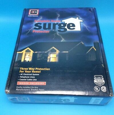 Cutler Hammer 3 Way Complete Home Surge Protector Panel AC  Phone Cable NOS