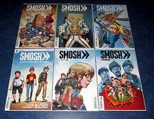 SMOSH #1 2 3 4 5 6 1st print COMIC set THE SUPER VIRGIN SQUAD KINGS OF YOUTUBE