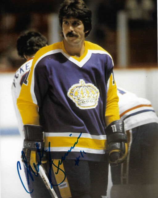 Los Angeles Kings Charlie Simmer Signed Autographed 8x10 Photo COA