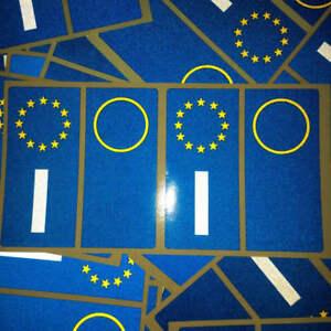 Set 4 Pièces Adhésifs Adhésif Pour Plaque Europe Voiture Stickers BMW Fiat Audi