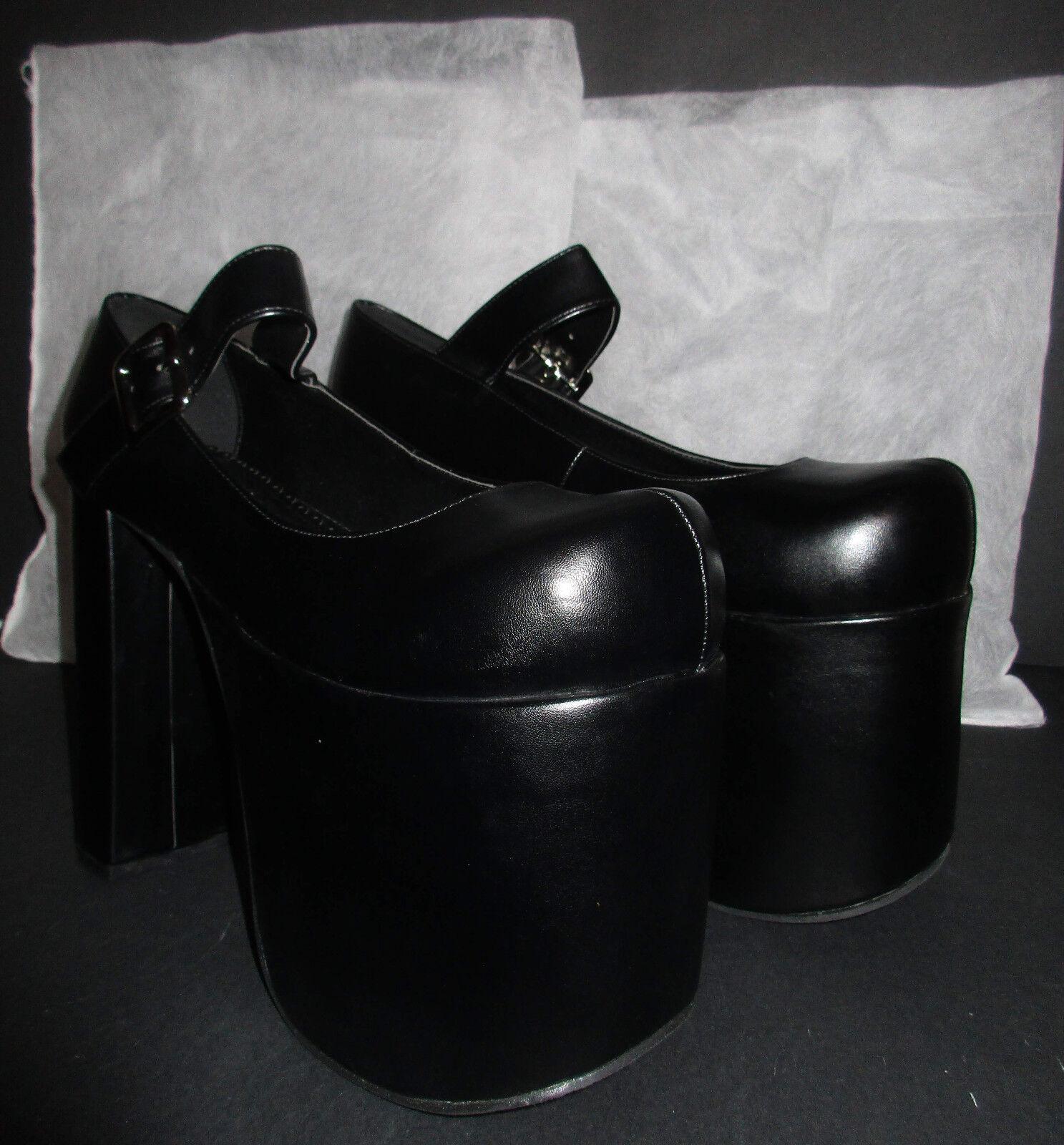 Schwarze Lolita Plateauschuhe, 15 cm Absatz, Größe 44 (NEU!)