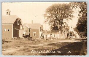 East-Dixfield-Maine-Unusual-Barn-Whittemore-Coolidge-Free-Will-Baptist-RPPC-1910