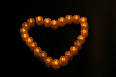 12 New Flickering Flicker Light Flameless LED Tealight Tea Candles Wedding Light