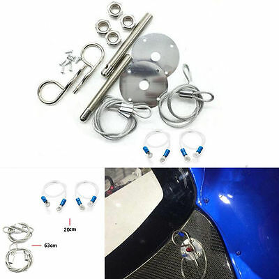"Muscle 3//16/"" Car Auto Hair Pin Style Sport Hood Latch Pin Bonnet Engine Lock Set"