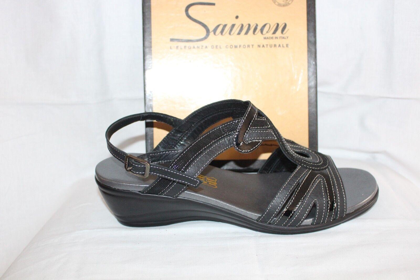 Damas Zapatos Calzado-Saimon Sandalia S166 Negro
