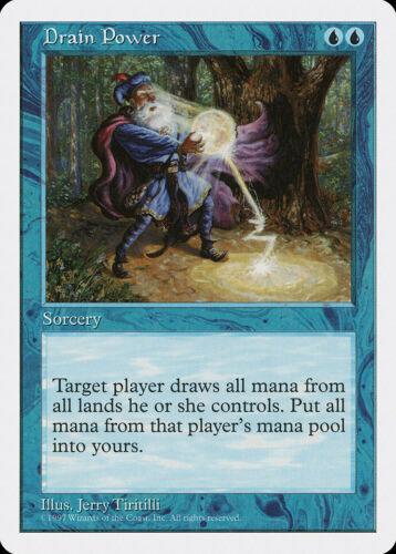 Drain Power 5th Edition NM-M Blue Rare MAGIC THE GATHERING MTG CARD ABUGames