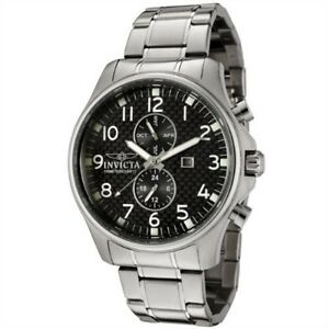 Invicta-Black-Carbon-Fiber-Swiss-StainlessSteel-Date-2-EYE-Dress-Date-Watch-0379