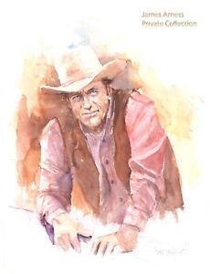 James-Arness-Gunsmoke-Marshal-Dillon-Lithograph-by-Buck-Taylor