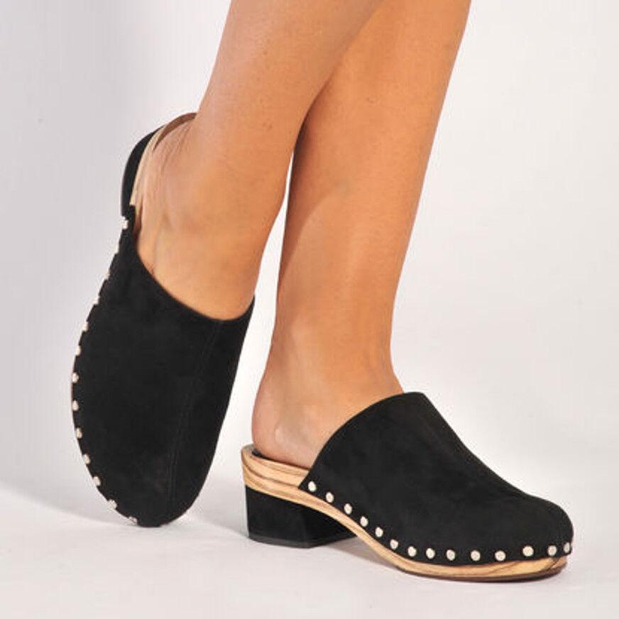 Chaussures Proenza Schouler velours 39 mules sabots velours Schouler de cuir noir Katty 39,5 40 7e320f