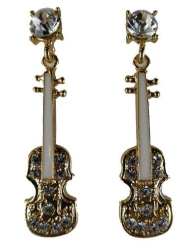 Extravagantes conector aretes ramo música guitarra violín concierto banda multicolor nuevo **