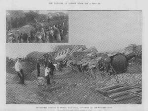 1902-Antique-Print-FRANCE-ARLEUX-Douai-Railway-Disaster-Derailment-286