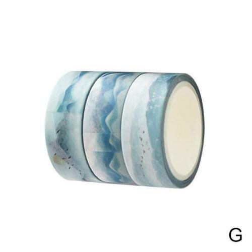 3x Ocean Washi Tape Set Klebeband DIY Dekoration Aufkleber Scrapbooking neu E5Y8