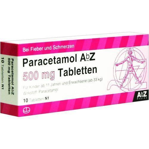 PARACETAMOL ABZ 500MG TABL 10St 1234473
