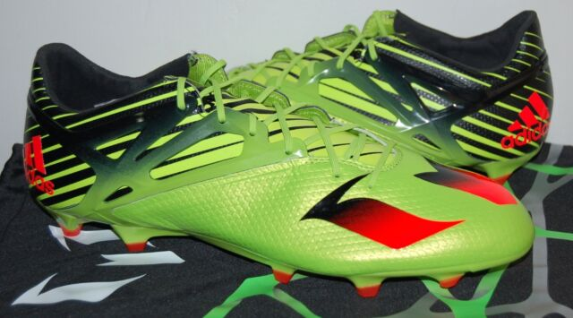 ... Men adidas Messi 15.2 FG Soccer Cleats Solar Slime Red Size 12 S74688  With Bag new ... 8fd9b3a9cea07