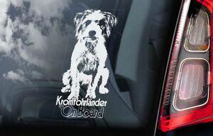 Kromfohrlander-a-Bordo-Coche-Ventana-Pegatina-Kromfohrlander-Perro-Signo-V01
