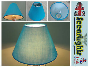 CANDLE LAMPSHADE CLIP ON CHANDELIER WALL LIGHT PENDANT SHADE TURQUOISE BLUE TEAL