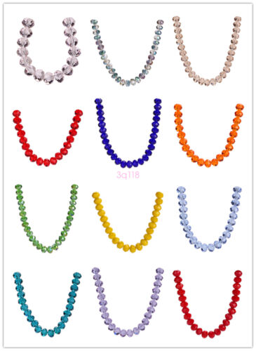 Crystal 14x10mm10PCS Faceted Glass Rondelle Beads Loose Spacer Beads Accessories