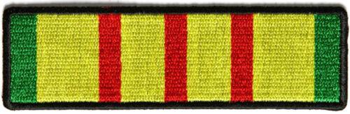 "Vietnam Service Ribbon Iron On Patch 4/"" x 1/"" Free Ship Military Veteran P3674"