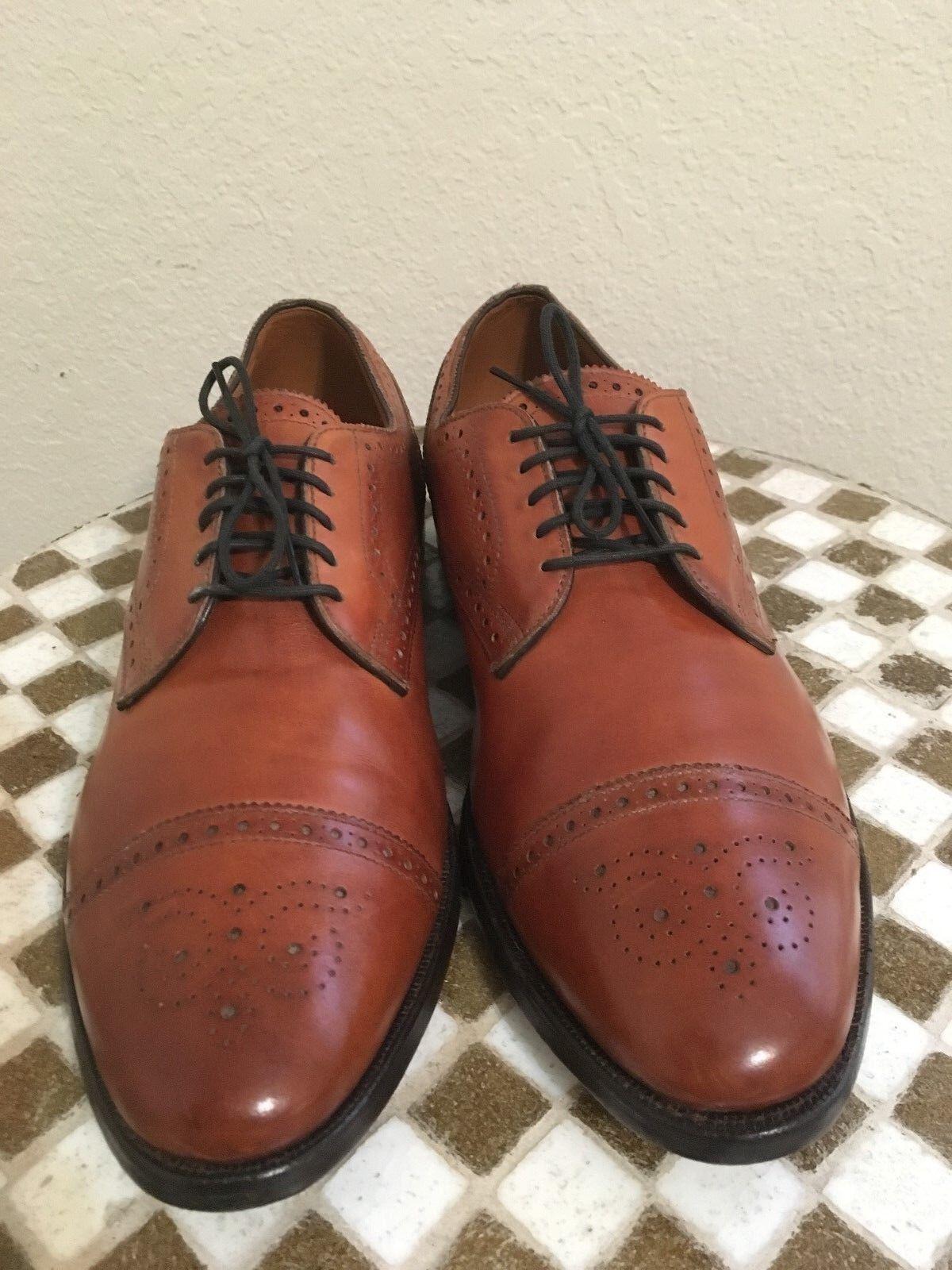 ALLEN EDMONDS Marrón Cuero Usa SANFORD Con Cordones Zapatos de alimentación de extremo de ala 11.5 D